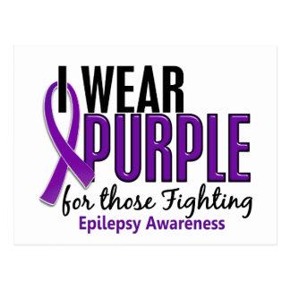 Llevo la púrpura para ésos la epilepsia que lucha postales