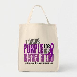 Llevo la púrpura para la enfermedad de Crohn de la Bolsa De Mano