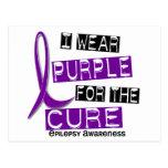 Llevo la púrpura para la epilepsia de la curación  tarjetas postales