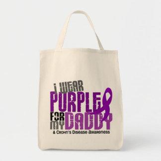 Llevo la púrpura para la mi enfermedad de Crohn de Bolsas De Mano