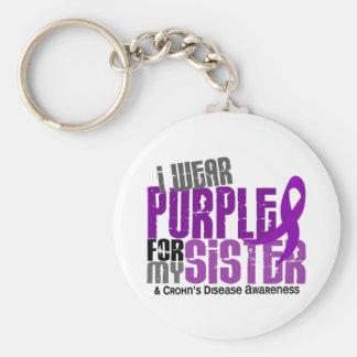 Llevo la púrpura para la mi enfermedad de Crohn de Llaveros Personalizados