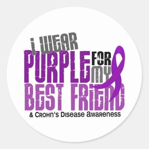 Llevo la púrpura para la mi enfermedad de Crohn de Pegatinas