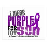 Llevo la púrpura para la mi enfermedad de Crohn de Tarjeta Postal