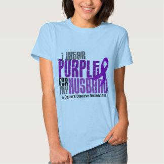 Llevo la púrpura para la mi enfermedad de Crohn Remeras