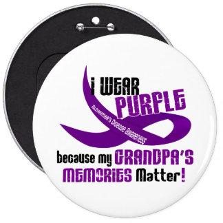 Llevo la púrpura para las memorias 33 de mi abuelo pin redondo 15 cm