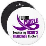 Llevo la púrpura para las memorias 33 de mi mamá pins