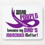 Llevo la púrpura para las memorias 33DAD de mi pap Alfombrilla De Ratón