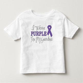 Llevo la púrpura para mi abuela (la cinta púrpura) playera