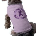 Llevo la púrpura para mi abuela camisetas de perrito