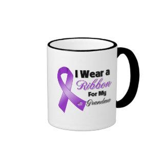 Llevo la púrpura para mi abuela taza de café