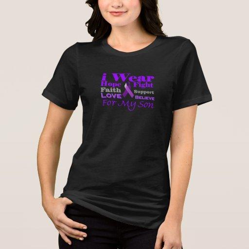 Llevo la púrpura para mi camisa de la conciencia d