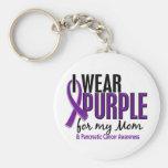 Llevo la púrpura para mi cáncer pancreático de la  llavero personalizado