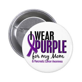 Llevo la púrpura para mi cáncer pancreático de la pin redondo de 2 pulgadas