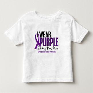 Llevo la púrpura para mi cáncer pancreático de la tee shirts