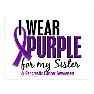 Llevo la púrpura para mi cáncer pancreático de la tarjetas postales