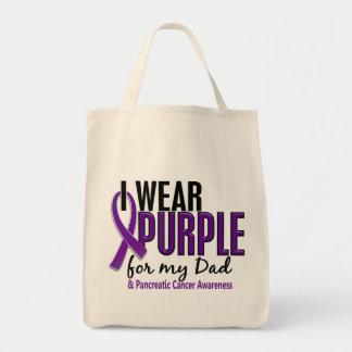 Llevo la púrpura para mi cáncer pancreático del pa bolsa de mano