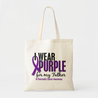 Llevo la púrpura para mi cáncer pancreático del pa bolsas