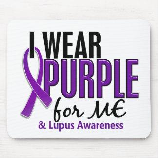Llevo la púrpura para MÍ el lupus 10 Alfombrilla De Ratón