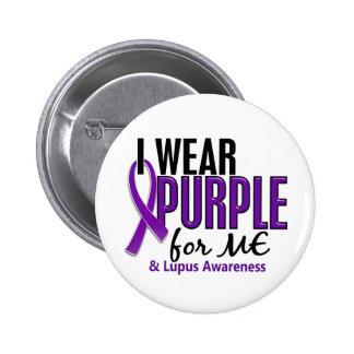 Llevo la púrpura para MÍ el lupus 10 Pin Redondo De 2 Pulgadas