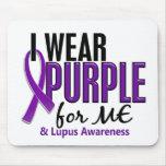 Llevo la púrpura para MÍ el lupus 10 Alfombrilla De Raton
