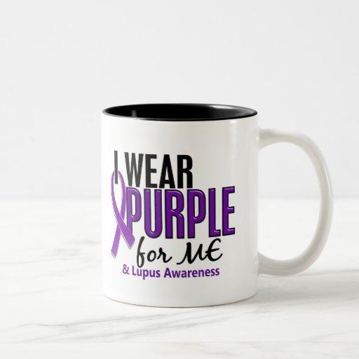 Llevo la púrpura para MÍ el lupus 10 Taza Dos Tonos