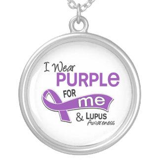 Llevo la púrpura para mí el lupus 42 colgante redondo