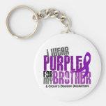 Llevo la púrpura para mi enfermedad de Brother 6 C Llaveros