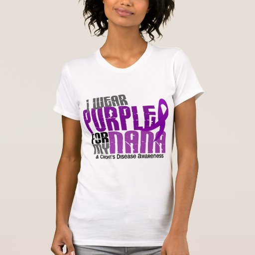 Llevo la púrpura para mi enfermedad de Nana 6 T Shirts