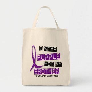 Llevo la púrpura para mi epilepsia de Brother 37 Bolsa Tela Para La Compra