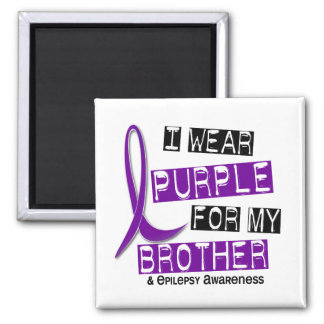 Llevo la púrpura para mi epilepsia de Brother 37 Iman Para Frigorífico