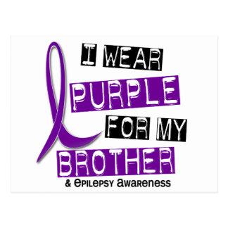 Llevo la púrpura para mi epilepsia de Brother 37 Tarjeta Postal