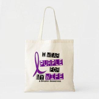Llevo la púrpura para mi epilepsia de la esposa 37 bolsa tela barata