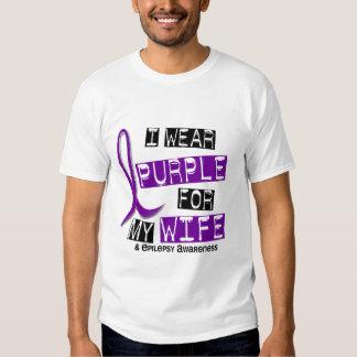 Llevo la púrpura para mi epilepsia de la esposa 37 playeras