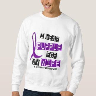 Llevo la púrpura para mi epilepsia de la esposa 37 suéter