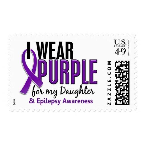 Llevo la púrpura para mi epilepsia de la hija 10