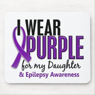 Llevo la púrpura para mi epilepsia de la hija 10 mouse pad