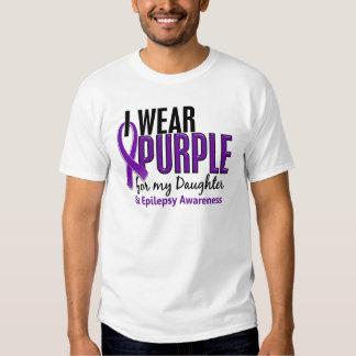 Llevo la púrpura para mi epilepsia de la hija 10 playera