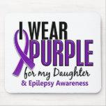 Llevo la púrpura para mi epilepsia de la hija 10 tapete de raton