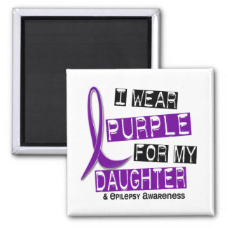 Llevo la púrpura para mi epilepsia de la hija 37 iman