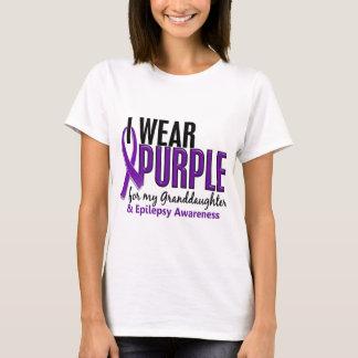 Llevo la púrpura para mi epilepsia de la nieta 10 playera