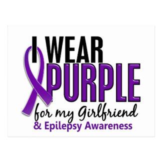 Llevo la púrpura para mi epilepsia de la novia 10 postales