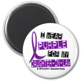 Llevo la púrpura para mi epilepsia de la nuera 37 imán para frigorifico