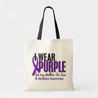 Llevo la púrpura para mi epilepsia de la suegra 10 bolsa tela barata