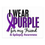 Llevo la púrpura para mi epilepsia del amigo 10 tarjeta postal