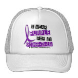 Llevo la púrpura para mi epilepsia del cuñado 37 gorra