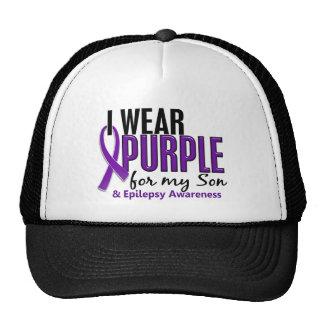 Llevo la púrpura para mi epilepsia del hijo 10 gorro
