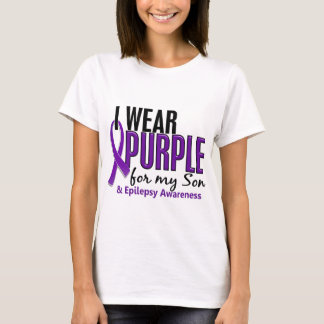 Llevo la púrpura para mi epilepsia del hijo 10 playera