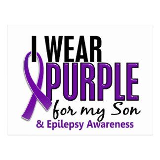 Llevo la púrpura para mi epilepsia del hijo 10 tarjetas postales