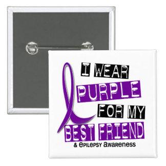 Llevo la púrpura para mi epilepsia del mejor amigo pin