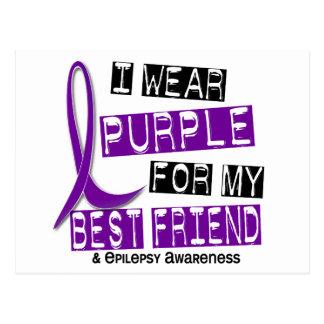 Llevo la púrpura para mi epilepsia del mejor amigo postal